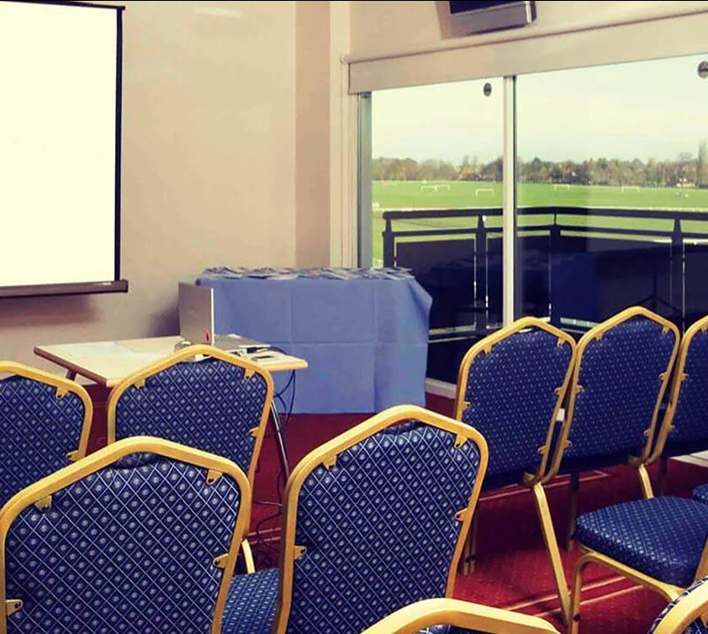A smaller conference room at Worcester Racecourse.