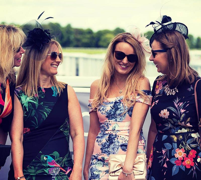 A group of ladies enjoy a day out at the races
